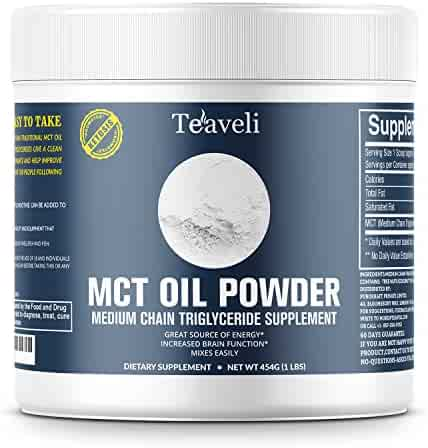 Premium MCT Oil Powder with Functional Fiber for Ketosis, Healthy and Clean Energy, Perfect Complement to Keto Diets, Supports Mental Performance  Use as Keto Coffee Creamer; In Smoothies, Shakes 1 LB