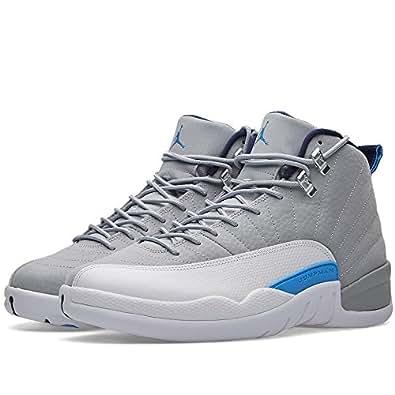 "Nike Mens Air Jordan 12 Retro ""Wolf Grey"" Wolf Grey/University Blue Leather Size 8"