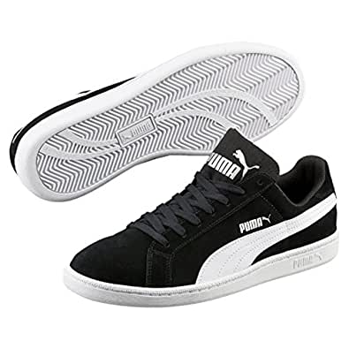 PUMA Men's Puma Smash Sd, Black- White,10 Sneakers
