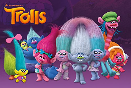 Trolls Animated Characters Movie Poster