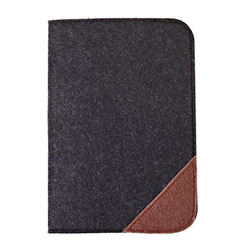 (Travel Passport Holder Travel Wallet cover case pocket Business Credit Cards cover bag Boarding Passes (Black))