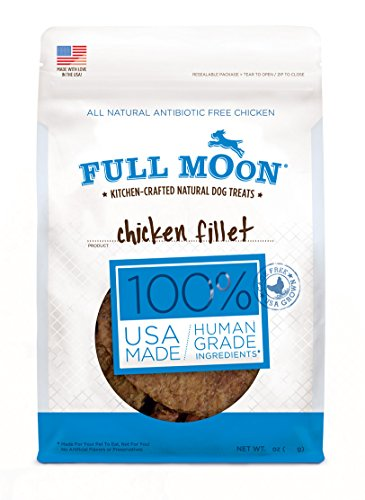 Full Moon 48-ounce XL Bag All Natural Human Grade Dog Treats Chicken Fillet Natural Rawhide Cane