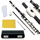 Glory Key of C Piccolo with Pro Case, Joint Grease, Cleaning Cloth and Rod, and Gloves, Black/Silver keys ~ More COLORS Available ! CLICK on LISTING to SEE All Colors