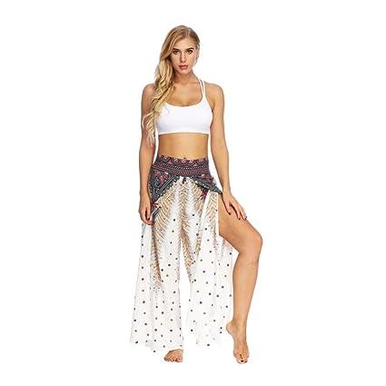 YOGOAOO Pantalón de Yoga para Mujer Pantalón Ancho Pantalón ...
