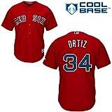 David Ortiz Boston Red Sox MLB Red Youth Cool Base Alternate Replica Jersey