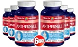 Vitamin E with aloe vera - ANTI-WRINKLE ANTI-AGING COMPLEX - Skin health vitamins (6 Bottles 360 Capsules)