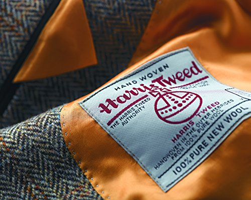 The Fine Swine Men's Harris Tweed Jacket Hamish 40 Long Brown mix by Harris Tweed and The Fine Swine (Image #4)