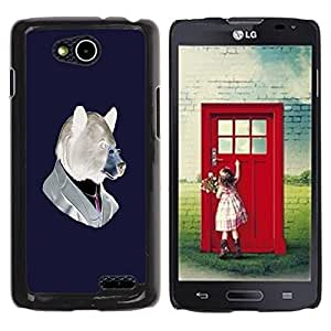 LECELL -- Funda protectora / Cubierta / Piel For LG OPTIMUS L90 / D415 -- Funny Hipster Bear --