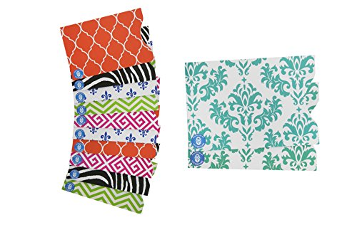 RFID SECURE Blocking Designer Sleeves Set with 10 Credit Card & 2 Passport Protectors