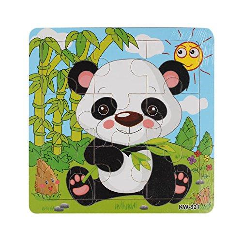PSFS 木製動物パズルジグソーパズル 9ピース 子供用 教育 学習パズル おもちゃ   B07GXGBPZS