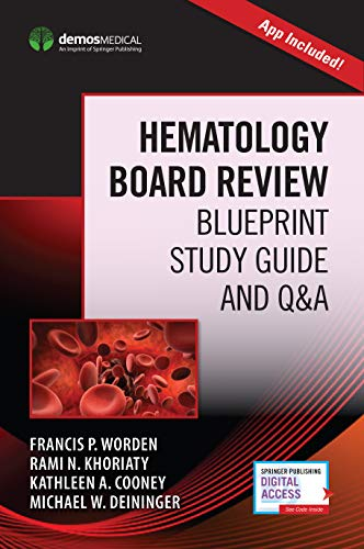 Hematology Board Review: Blueprint Study Guide and Q&A  (Book + Free App) - http://medicalbooks.filipinodoctors.org