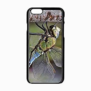 Customized Back Cover Case For iPhone 6 Hardshell Case, Black Back Cover Design 4.7inch Dragonfly Personalized Unique Case For iPhone 6