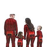 Family Pajamas,Lattice Animal Holiday Christmas Family Matching Sleepwear Jumpsuit (Women, L)