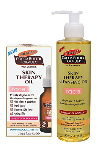 Palmer's Cocoa Butter Formula Skin Therapy Oil 1 Ounce Plus Cleansing Oil - Face