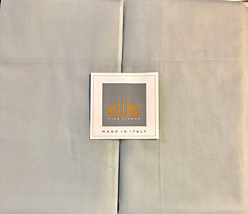 Bellino Fine Italian QUEEN Sheet Set - 100% percale cotton (gray) ()