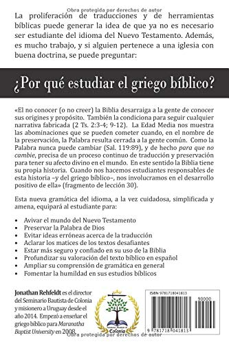 Gramática Básica del Griego Bíblico (Spanish Edition): Jonathan ...