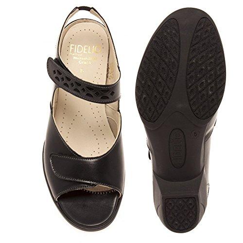 Fidelio Kvinna 26-5042-90 Ana Svart Läder Svart Läder