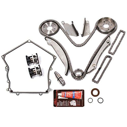 Evergreen TKTCS5028H 02-06 Chrysler Dodge V6 2.7L Timing Chain Kit Tensioner (NGC Cam Gear) Timing Cover Gasket (Timing Cover Upper Gasket)