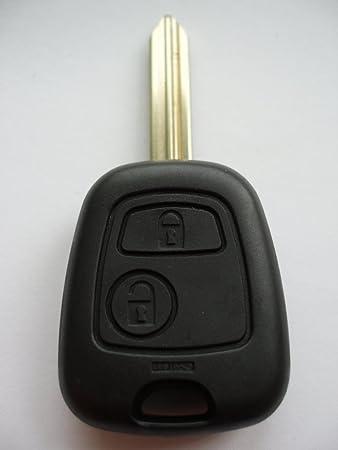 Ersatzschlüssel Hülle Für Funk Autoschlüssel Mit Zwei Tasten Für Die Citroen Modelle Saxo Xsara Berlingo Picasso Auto