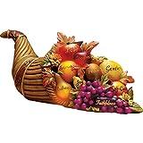 thanksgiving table centerpieces Collections Etc Color Changing Cornucopia Centerpiece
