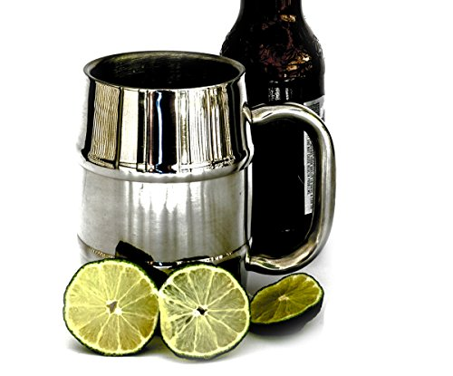 16.9 oz Stainless Steel Double Wall Air Insulated Beer or Coffee - Steel Mug Timberline Stainless