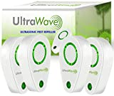 ULTRAWAVE 2019 Ultrasonic Pest Repeller Plug in | 4PACK | Non-Toxic Device | Ultrasound-Electromagnetic Control | Repellent for Mice Rats Bed Bugs Spiders Rodents Insects