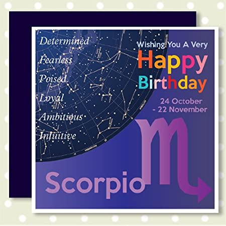 HEAVENLY Happy Birthday Cards SCORPIO 24th October