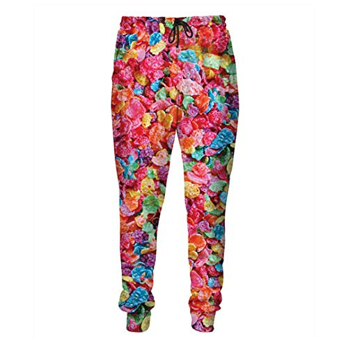 Ticefsirs Casual Pants 3D Printed Pebbles Sweatpants Men/Women Harajuku Loose Clothing Fruity Pebbles S