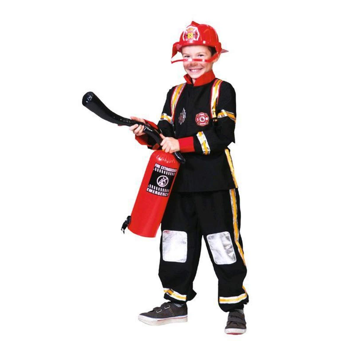 Kostümplanet - Disfraz infantil de bombero, talla 128, 140, 152 ...
