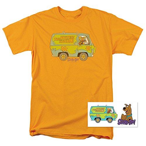 Scooby-Doo Mystery Machine Cartoon T Shirt & Stickers (Medium) - Scooby Doo Mystery Machine Sticker