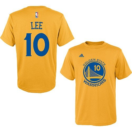 David Lee Golden State Warriors #10 NBA Youth Name & Number Player T-Shirt Gold (Youth Small 8)