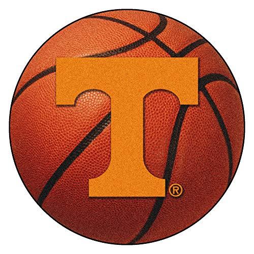 (FANMATS NCAA University of Tennessee Volunteers Nylon Face Basketball Rug)