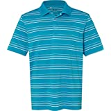 adidas Men's Pure Motion Textured Stripe Polo A123