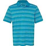 adidas Men's Pure Motion Textured Stripe Polo A123