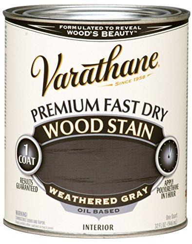 Rust-Oleum 269394 Varathane Premium Fast Dry Wood Stain, 32-Ounce, Weathered Gray - 2 (Varathane Premium Floor)