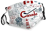 YILINGER Reusable Face Decoration Mouth Mask Fun Colorful Sketch Canada