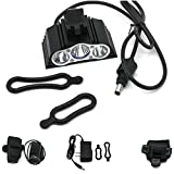 1 Pcs Good Popular Style 4 Modes 7500LM LED Bike Lights Bicycle Headlight Front Flashing Flashlight Color Black with Battery Charger
