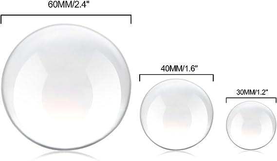 Winbang Boule de Cristal Ornements en Fengshui en Verre Globe Transparent pour Cadeaux Photographie Maison D/écoration 30//40 // 60mm 30mm Optionnel