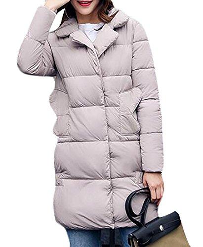 Jackets Winter today Coats Women's Lightweight Down Grey Packable UK Warm Puffer x01qE7wZ14