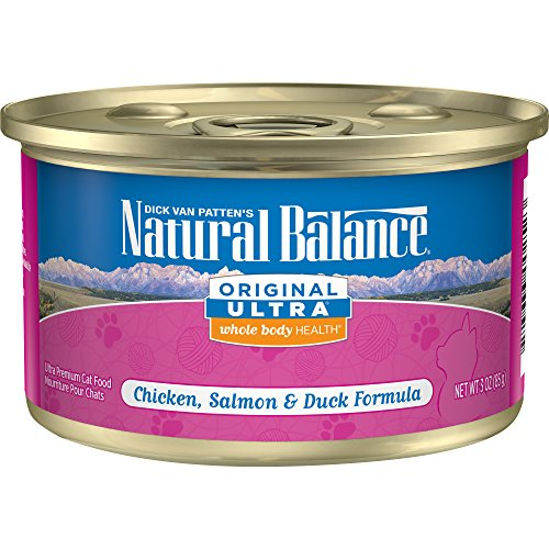 Natural Balance Original Ultra Whole Body Health Chicken, Salmon & Duck Formula Wet Cat Food, 3-Ounce Can (Pack of 24)