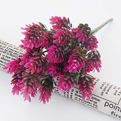 - ANNIBUS Artificial Plants 35 Heads/Bundle Pine Cone Simulation Pineapple Grass Artificial Plants DIY Home Vases for Decoration Fake Plastic Flower Pompon