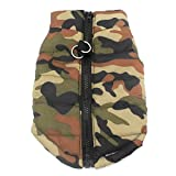 cloth harness dog - New Various Pet Cat Dog Soft Padded Vest Harness Small dog clothes Green camouflage M