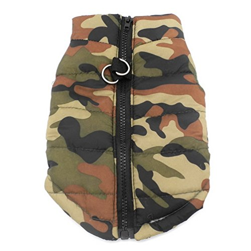New Various Pet Cat Dog Soft Padded Vest Harness Small dog clothes Green camouflage M