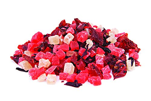 The Spice Way - Pomegranate Passion Fruit Infusion with dried pomegranate, hibiscus, papaya and more. loose tea infusion (Pomegranate Tea) - 4oz (Hibiscus Spice)