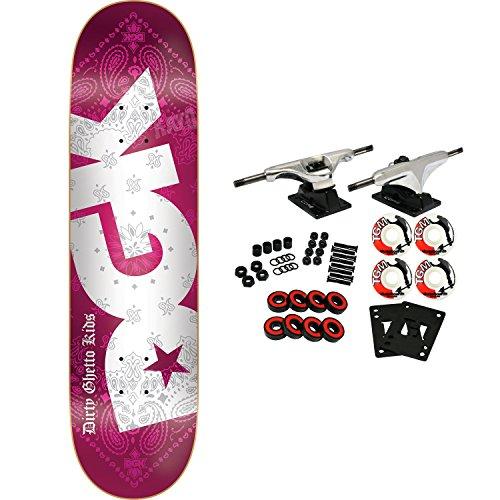DGK Skateboard Complete Bandana Foil Red 8.25