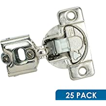"25 Pack Rok Hardware Grass TEC 864 108 Degree 1/4"" Overlay 3 Level Soft Close Screw On Compact Cabinet Hinge 04429A-15 3-Way Adjustment 45mm Boring Pattern"