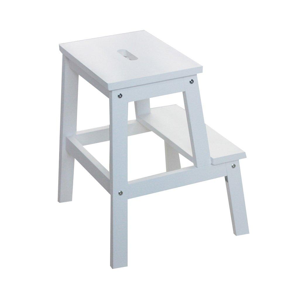 CAIJUN はしご便 環境を守ること 多機能 無垢材 シンプル 家庭 北欧スタイル、 10色 (色 : B) B07FXKYKL5 B B