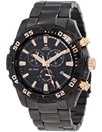 Men's SP12152 Formula-7 Pro Black Dial with Black Stainless Steel Band Watch