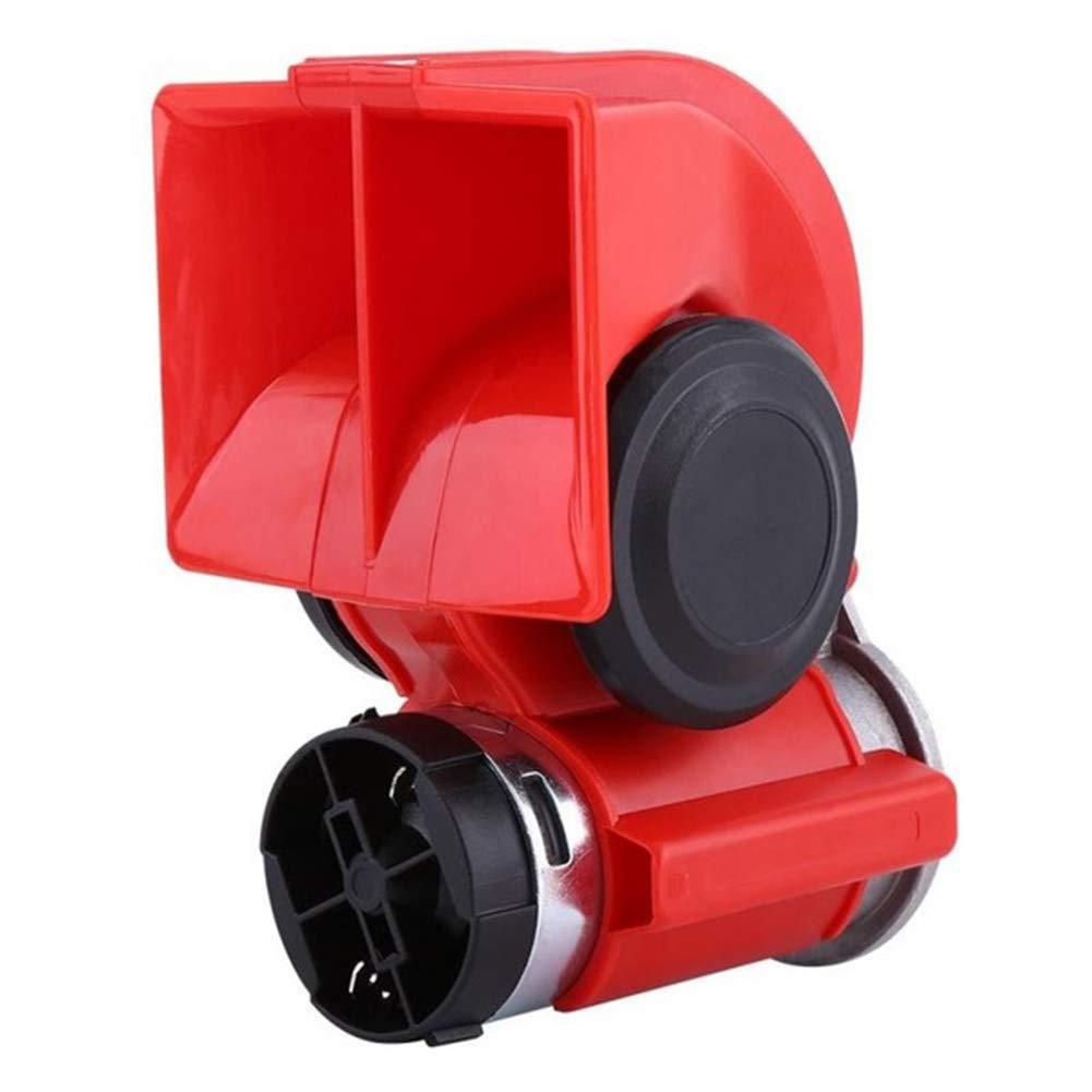NZNNXN Dual Tone Trumpet 12V 130dB Electric Air Horn Snail Electric Pump Siren For Car Motorcycle