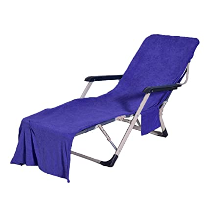 Peachy Wisehome Chaise Lounge Pool Chair Cover Beach Towel Terry Cloth Fitted Pocket 83 L X 30 W Dark Blue Ibusinesslaw Wood Chair Design Ideas Ibusinesslaworg